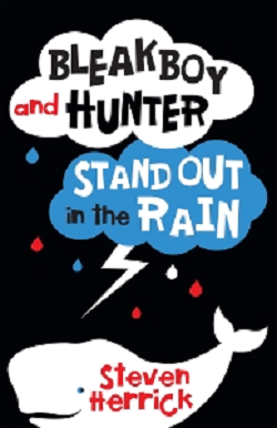 BLEACK BOY AND HUNTER STAND OUT IN THE RAIN