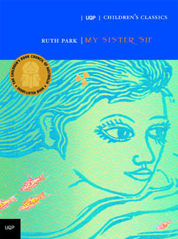 CHILDREN'S CLASSICS: MY SISTER SIF